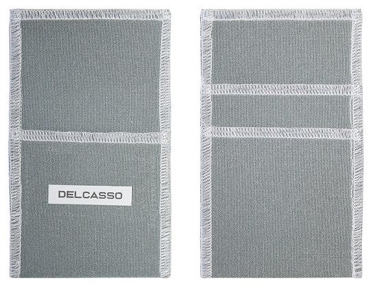 Delcasso porte-cartes gris souris