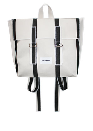 Delcasso - Sac à dos en toile de store noir et blanc