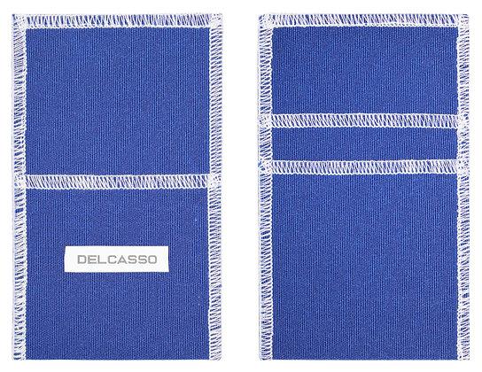 Delcasso porte-cartes bleu denim