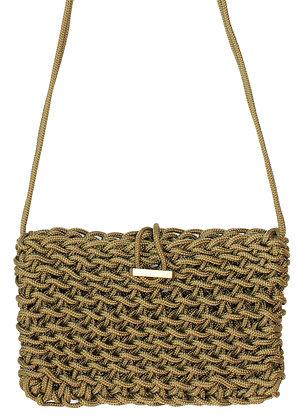 Delcasso sac en corde dorée