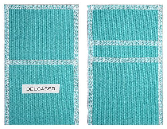 Delcasso porte-cartes vert corail