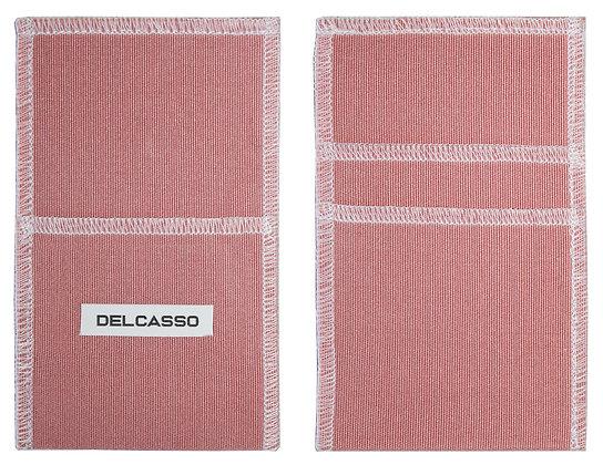 Delcasso porte-cartes vieux rose