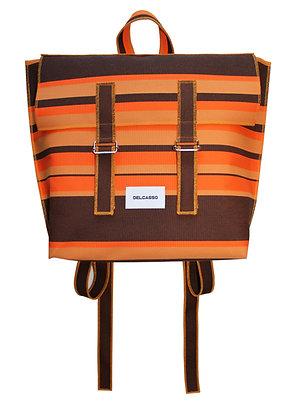 Delcasso Sac à dos marron et orange
