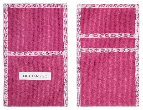 Delcasso porte-cartes rose framboise