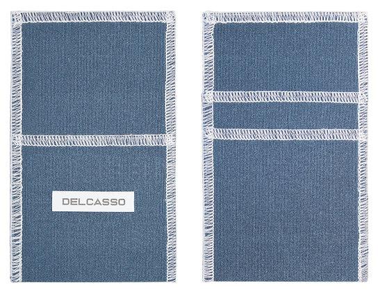 Delcasso porte-cartes bleu gris