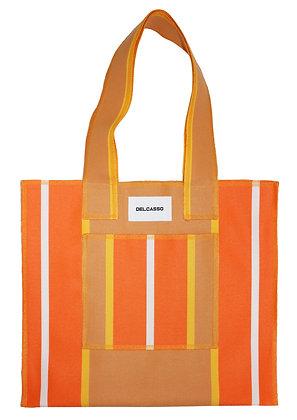 Delcasso - Sac en toile de store orange