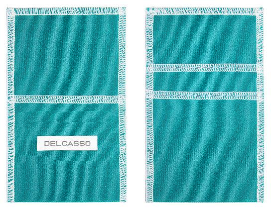 Delcasso porte-cartes bleu canard