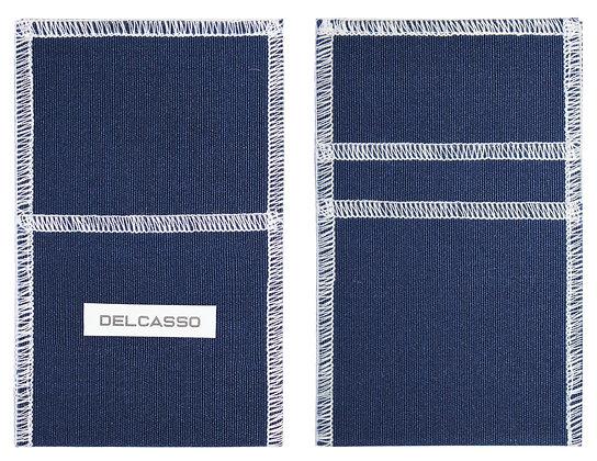 Delcasso porte-cartes bleu marine