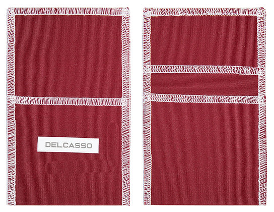 Delcasso porte-cartes lie de vin