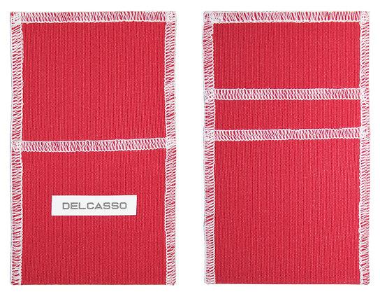 Delcasso porte-cartes coquelicot