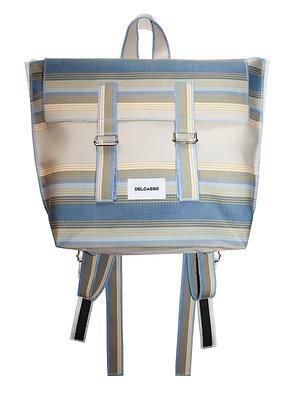 Delcasso - Sac à dos en toile de store bleu