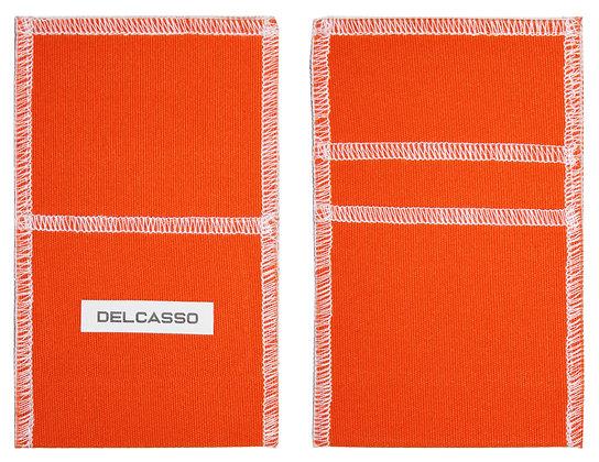 Delcasso porte-cartes orange