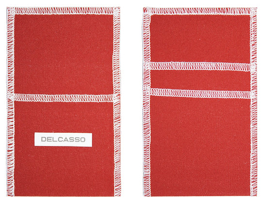 Delcasso porte-cartes rouge brique