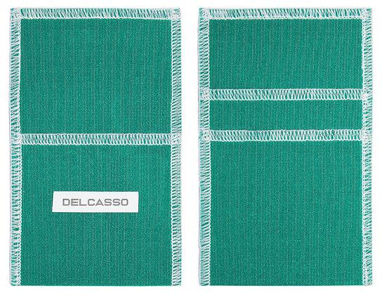 Delcasso porte-cartes vert émeraude