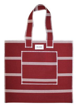 Delcasso - Grand sac en toile de store bordeaux