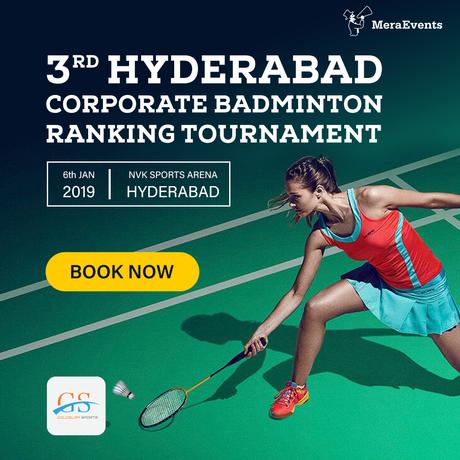 3rd Hyderabad Corporate Badminton 04-01-