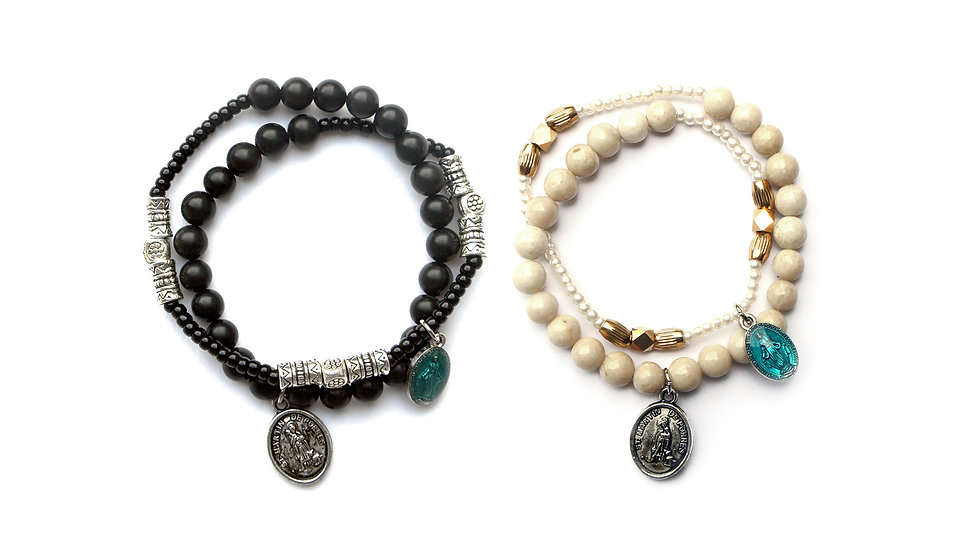 St. Francis Double Layer Bracelet Set [聖方濟層次珠串套裝]