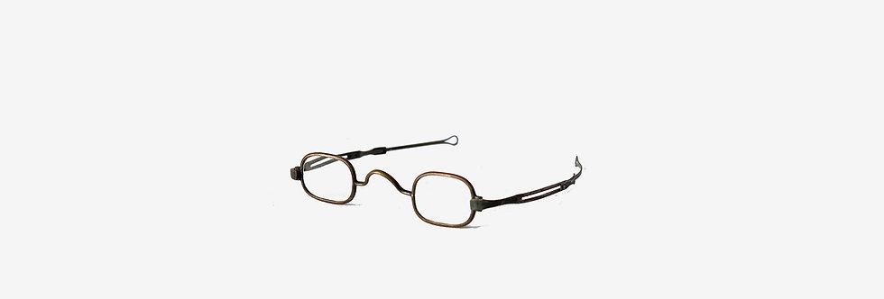 19世紀折疊式古董銅眼鏡附原盒