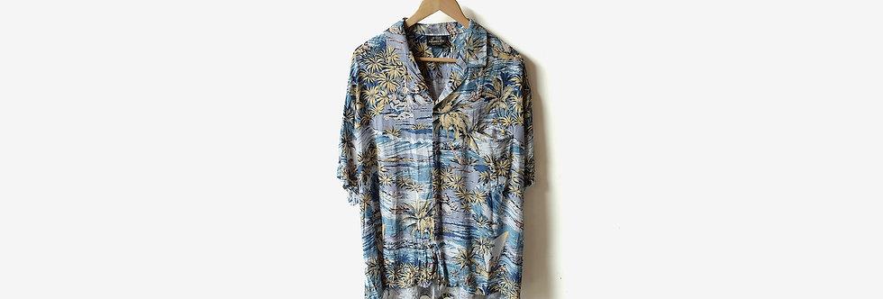 夏威夷製 PARADISE BAY 人造絲襯衫