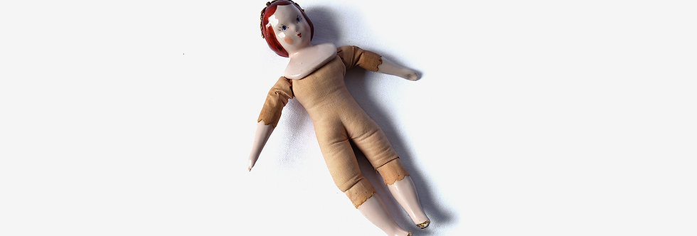40's 藝術家Ruth Gibbs作品陶瓷娃娃
