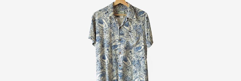 夏威夷製老牌 Kamehameha 嫘縈襯衫