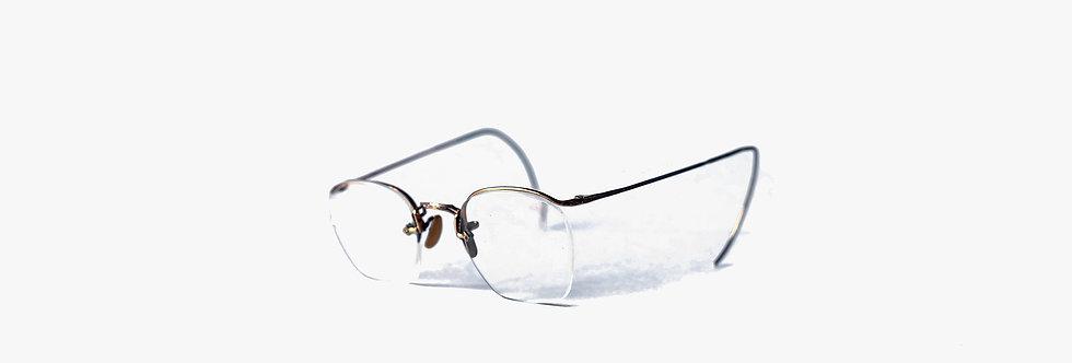 美國American Optical 10K鍍金雕花眉框