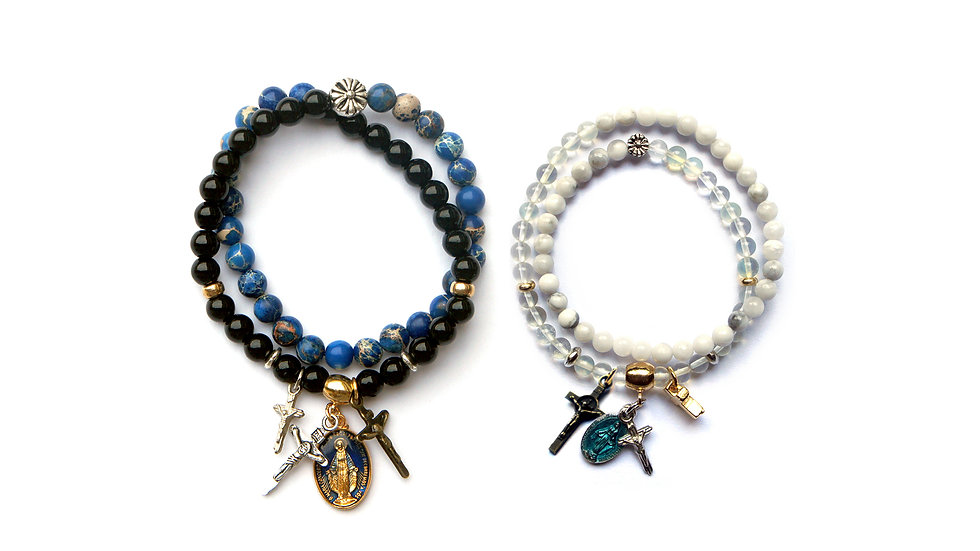 Devout Couple Bracelet Set [虔誠情侶珠串套裝]