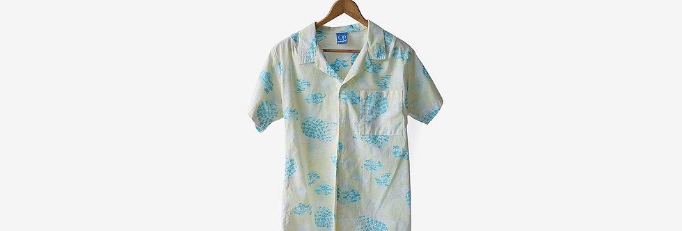 加拿大製 Ocean Pacific 人造絲襯衫
