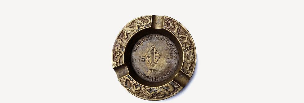50's 美軍韓戰紀念黃銅菸灰缸