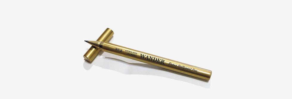 WANDER 黃銅走珠筆