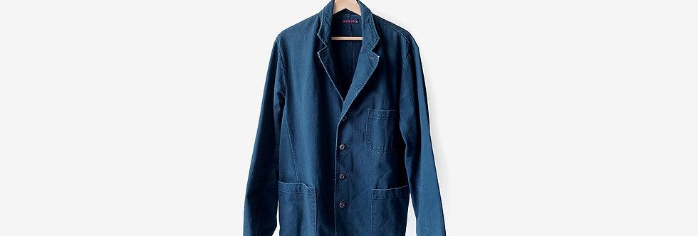 R by 45rpm 藍染棉質西裝外套