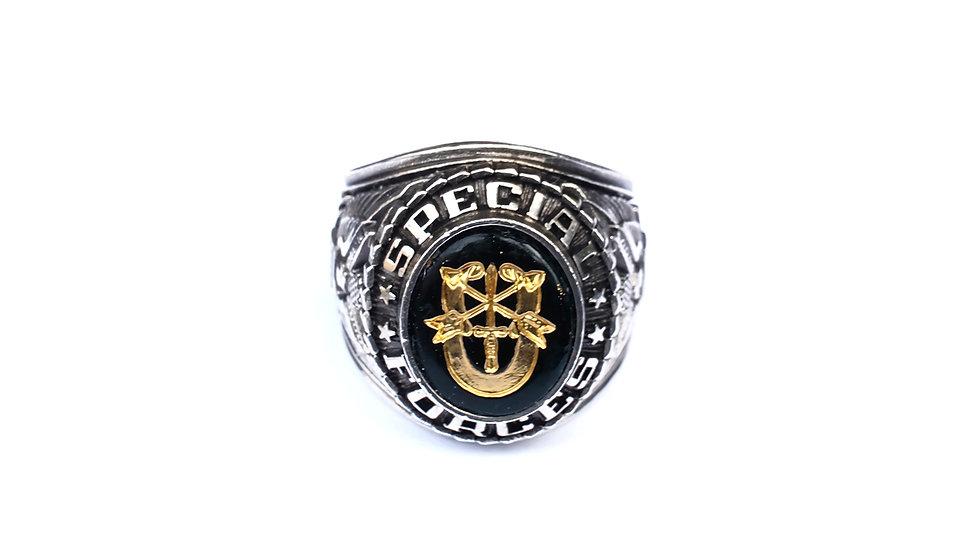 美國特種部隊純銀紀念戒指