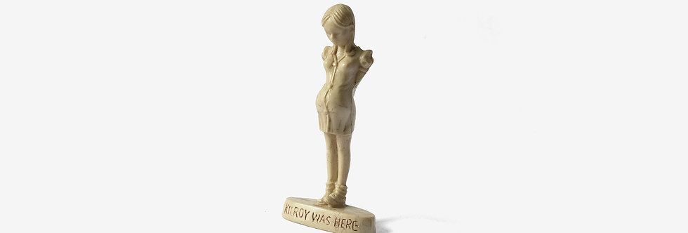 二戰 Kilroy Was Here 象牙白塑膠模型