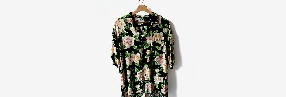 夏威夷製 LEILANI 人造絲襯衫