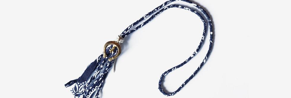 Story Crafts Co. 印染布編織月牙項鍊編織項鍊