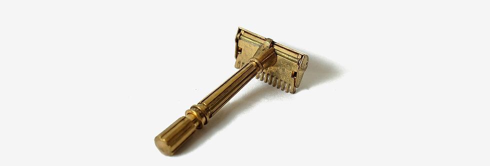 Gem Micromatic黃銅單邊刮鬍刀組