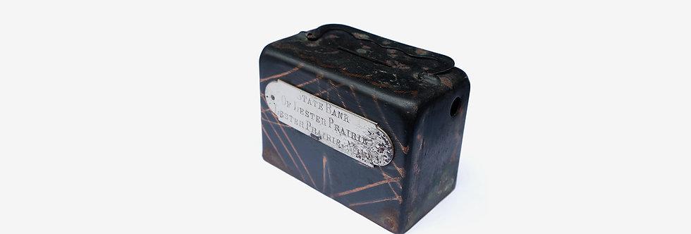 20世紀初Japanned Copper銅閃光存錢箱