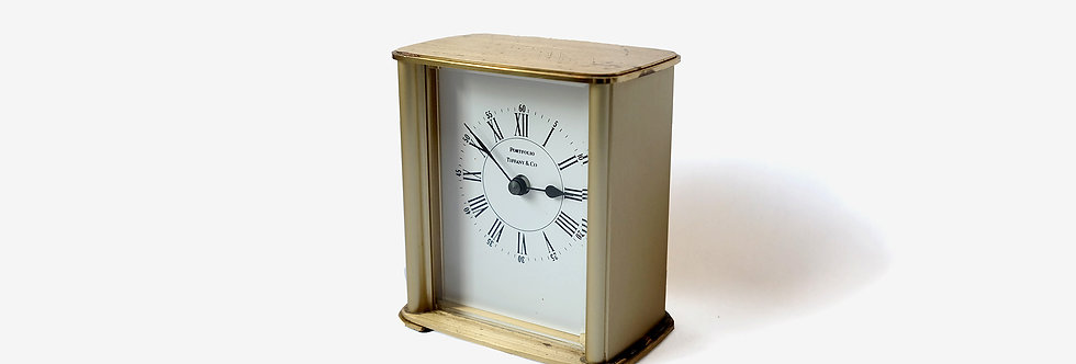 Tiffany & Co. 黃銅壁爐架時鐘