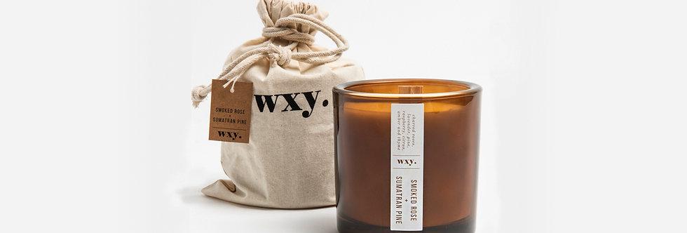 wxy. 煙熏玫瑰與蘇門答臘松木香氛蠟燭