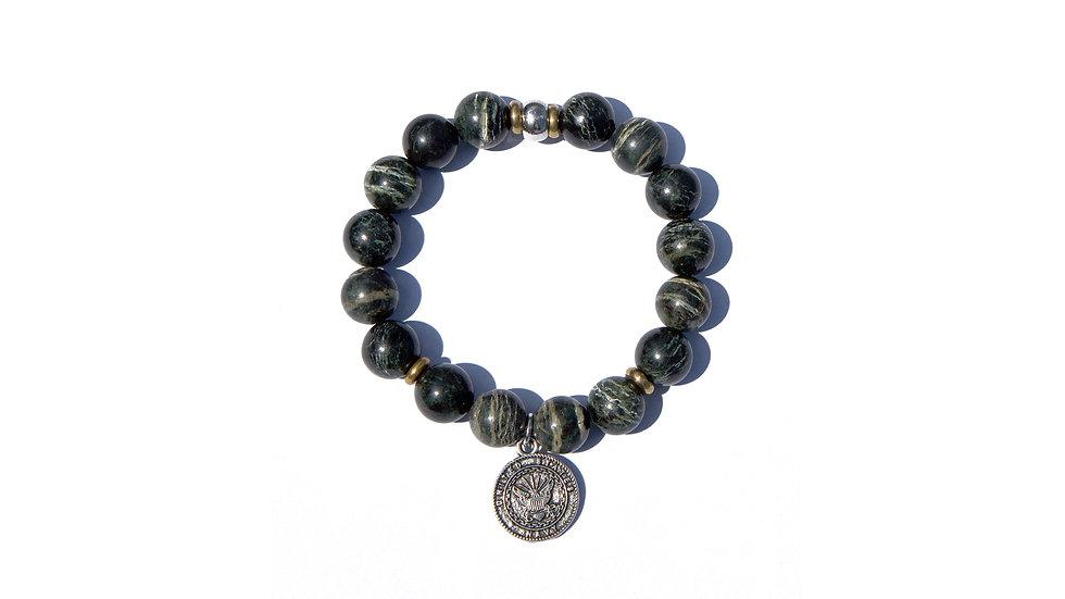 越戰樹紋迷彩石珠串