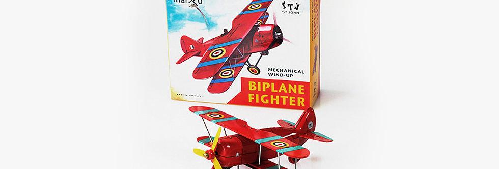 Saint John 鐵皮玩具 - 雙翼戰鬥機