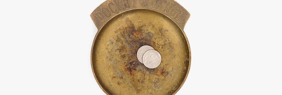 黃銅美式零錢碟
