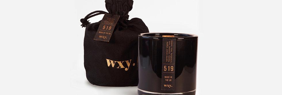 wxy. 519 檸檬, 白麝香與皮革香氛蠟燭