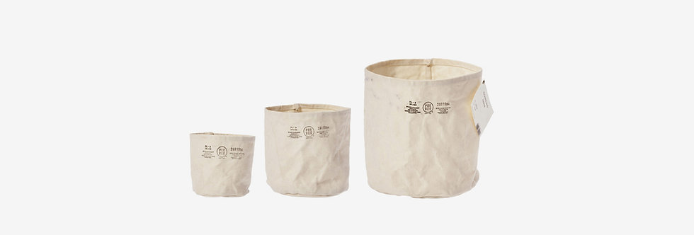 Puebco 帆布防水置物袋 - 米白