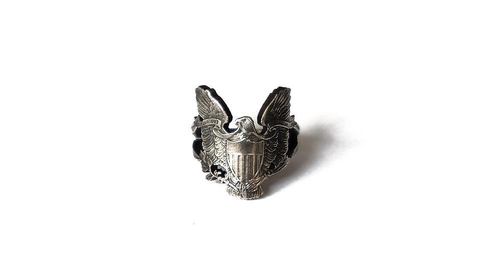 美國鷹揚銀幣雕刻戒指