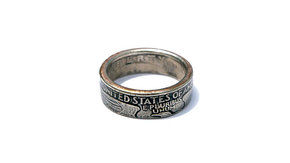 美國25分錢幣戒指