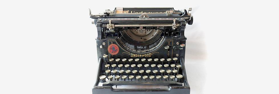 Underwood No.5百年古董打字機