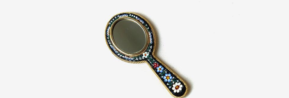 義大利微鑲馬賽克手持鏡