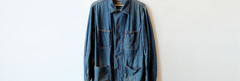 BLUE BLUE JAPAN 工裝丹寧外套