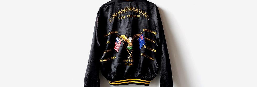 80年代西太平洋橫須賀刺繡外套 - U.S.S